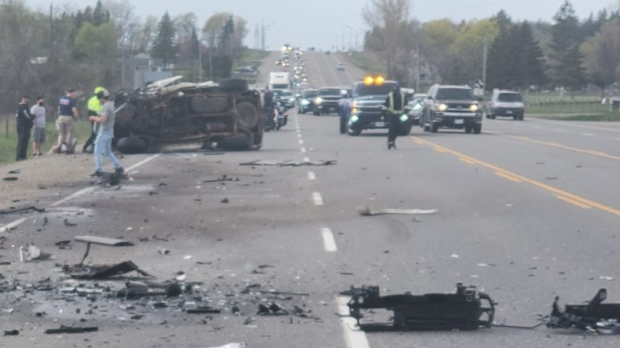 Police: Driver dead in 3-vehicle crash in Caledon