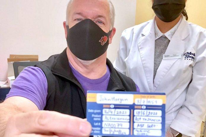 Coronavirus: remier John Horgan gets second AstraZeneca vaccine as B.C. reports 109 new cases