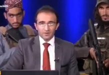 Afghan TV Anchor Interviews Taliban Member While Surrounded by Armed Fighters (Watch Video)