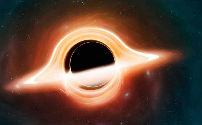 Astronomers spot light behind a black hole for the first time
