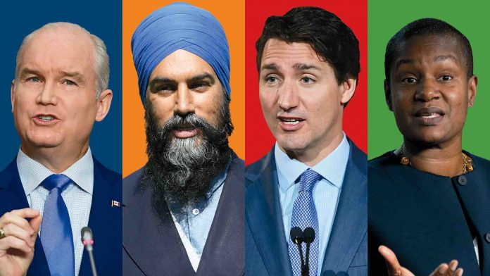 Canada federal election poll: Conservative lead growing slightly as Liberal, NDP campaigns hit wall