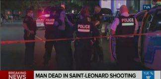 Man dead in Saint-Leonard shooting